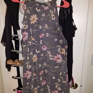 Grey floral Xhilaration dress size XXL